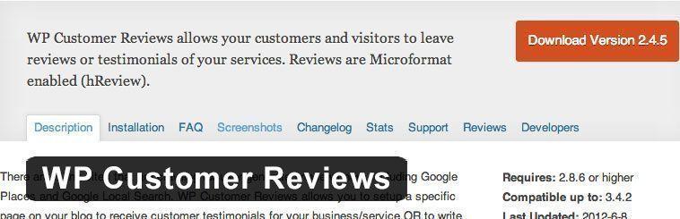 Plugin SEO de WordPress - WP Customer Reviews
