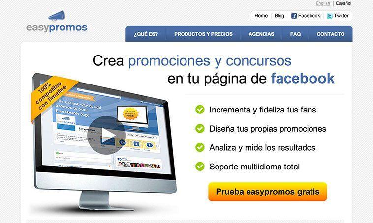 Easypromos - Aplicaciones para crear concursos en Facebook