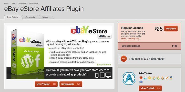 Plugins de WordPress para programas de afiliación - Affiliates eBay