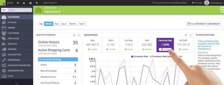 Crear una tienda online con PrestaShop – Configuraciones principales
