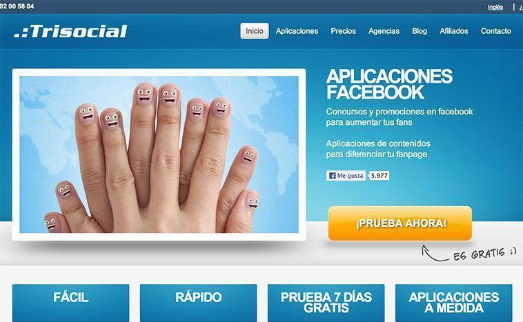 TriSocial - Aplicación de Facebook para crear concursos