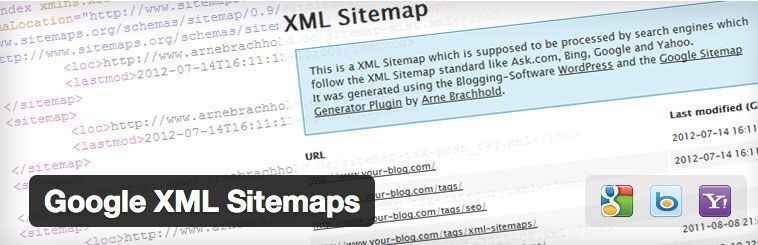 Plugin SEO para WordPress - Google XML Sitemaps