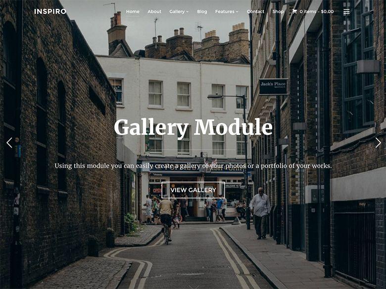 Inpiro - Plantilla WordPress para profesionales de fotografía