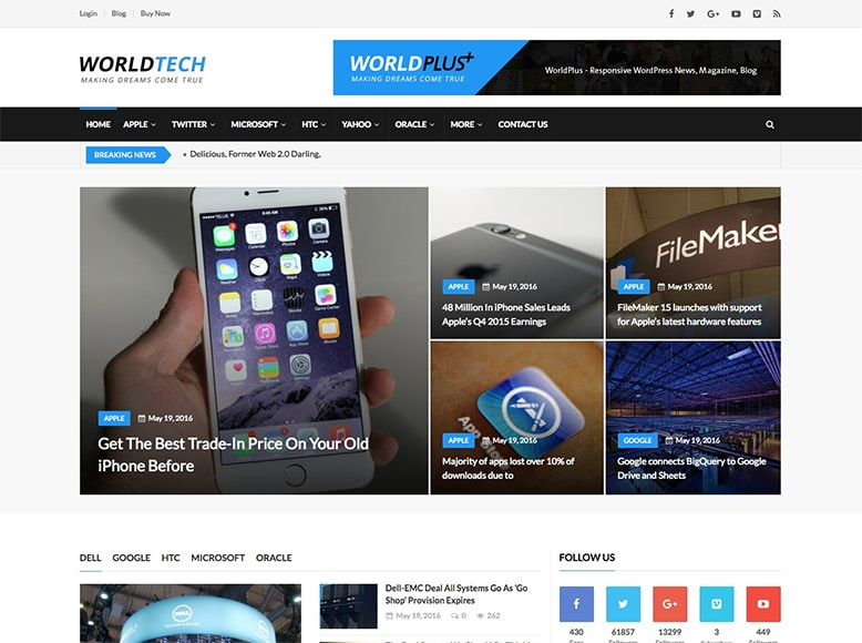WorldPlus - Tema WordPress para revistas online y blogs multimedia