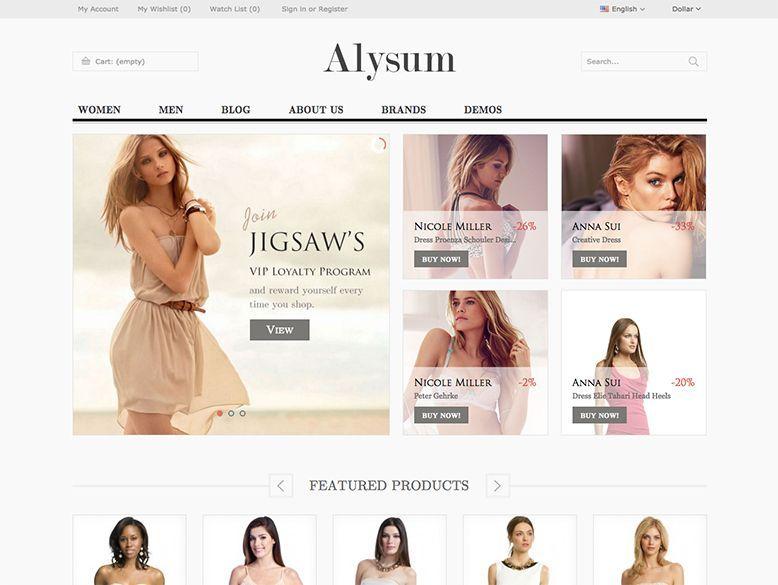 Alysum - Plantilla Prestashop para eCommerce elegante