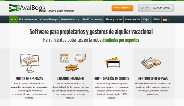 Sistema de central de reservas en WordPress - AvaiBook