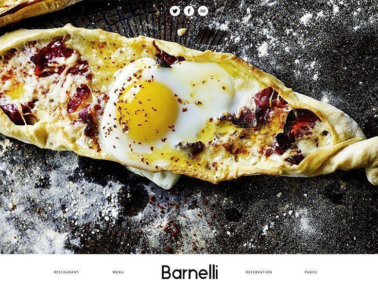 Barnelli - Plantilla WordPress para pequeños restaurantes