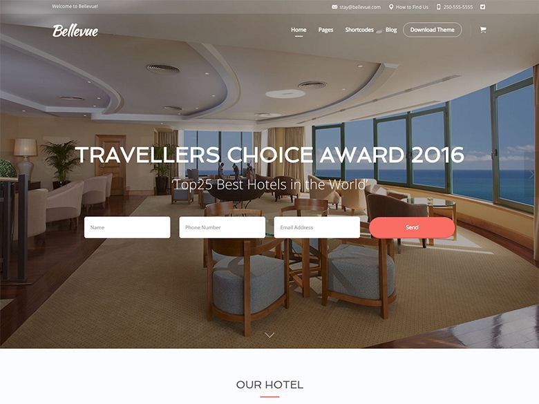Bellevue - Tema WordPress para hoteles y hostales