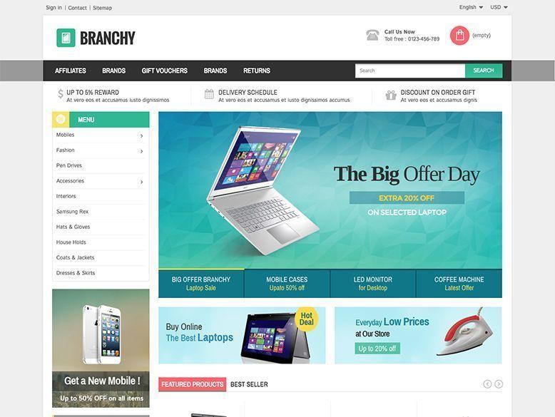 Branchy - Plantilla Prestashop para tiendas de electrónica y móviles
