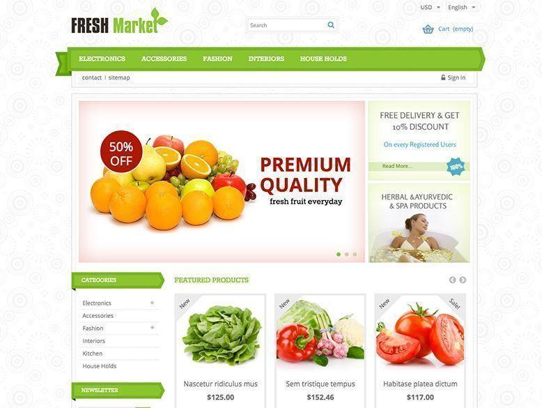 Fresh Market - Plantilla Prestashop para tiendas de alimentación
