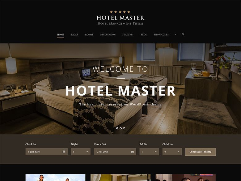 Hotel Master - Plantilla WordPress para hoteles
