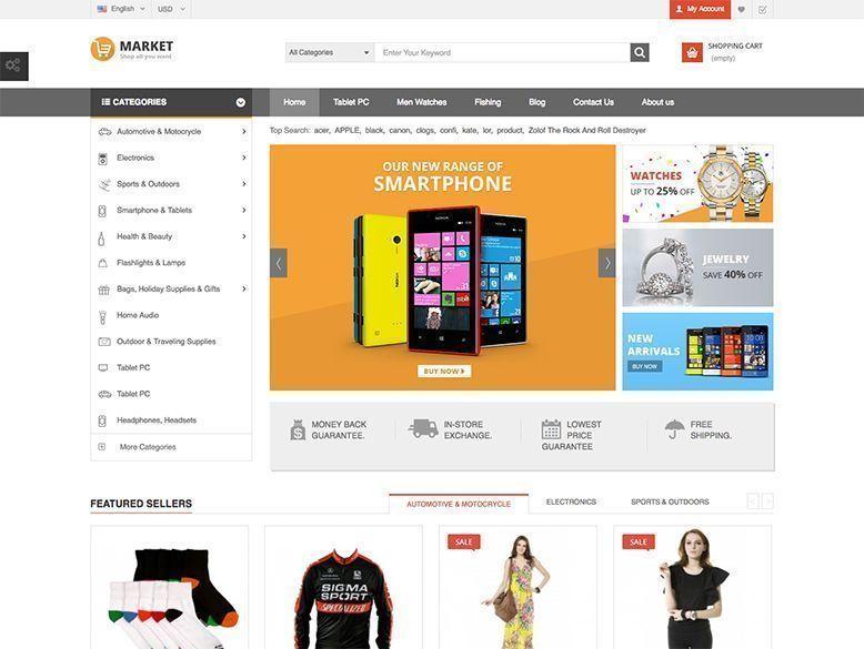 Market - Plantilla Prestashop para tiendas online