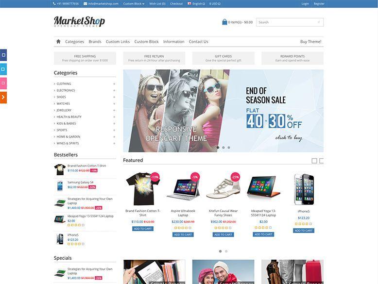 MarketShop - Plantilla OpenCart para tiendas virtuales