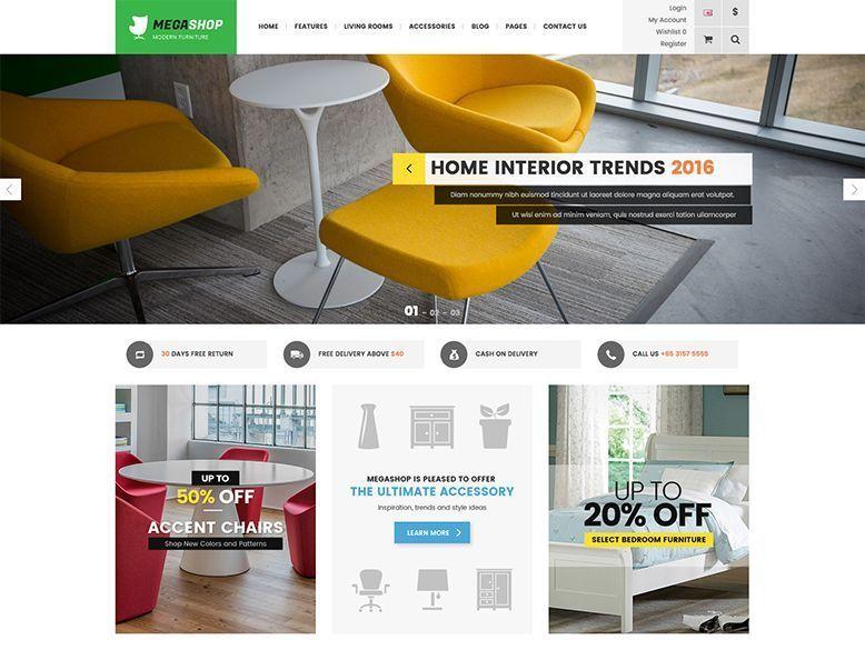 Megashop - Plantilla OpenCart para tiendas online de muebles y decoración
