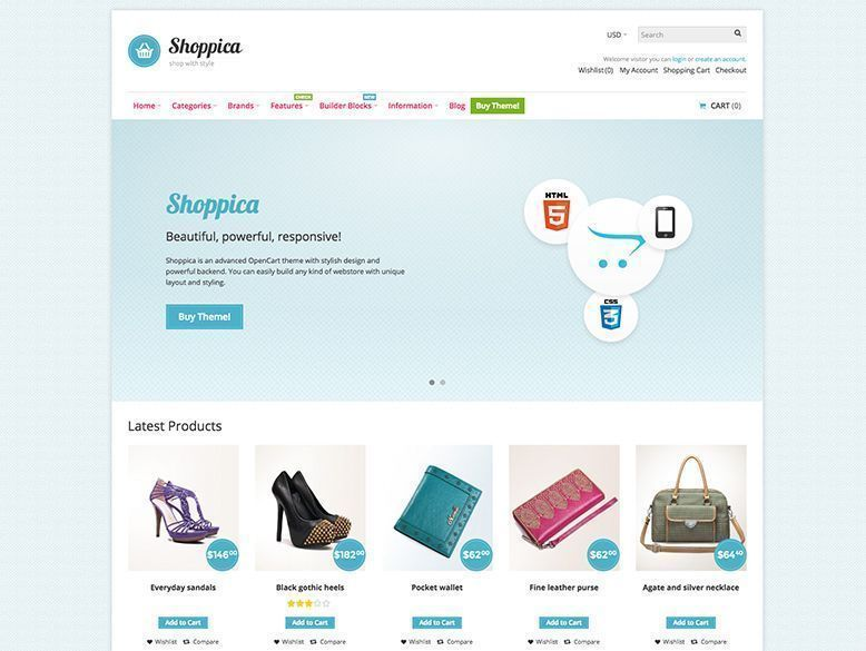 Shoppica - Tema OpenCart para tiendas virtuales y ecommerce