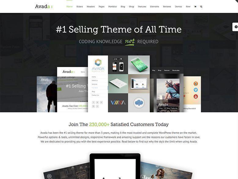 Avada - Mejor tema WordPress para empresas