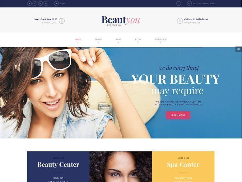 Beautyou - Plantilla WordPress para centros de belleza y spa