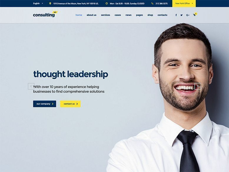 Consulting - Plantilla WordPress para empresas de consultoría y finanzas