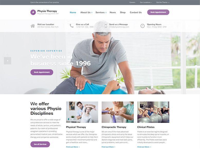 Physio - Tema WordPress para fisioterapeutas y masajistas