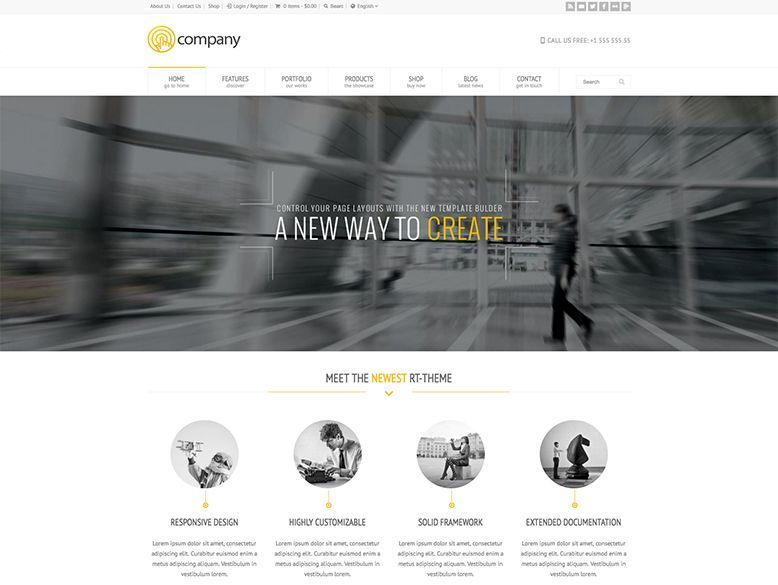 RT-Theme 18 - Plantilla WordPress para negocios y empresas corporativas