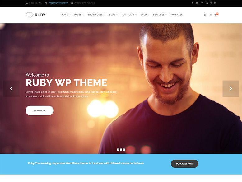 Ruby - Tema WordPress para empresas y corporaciones