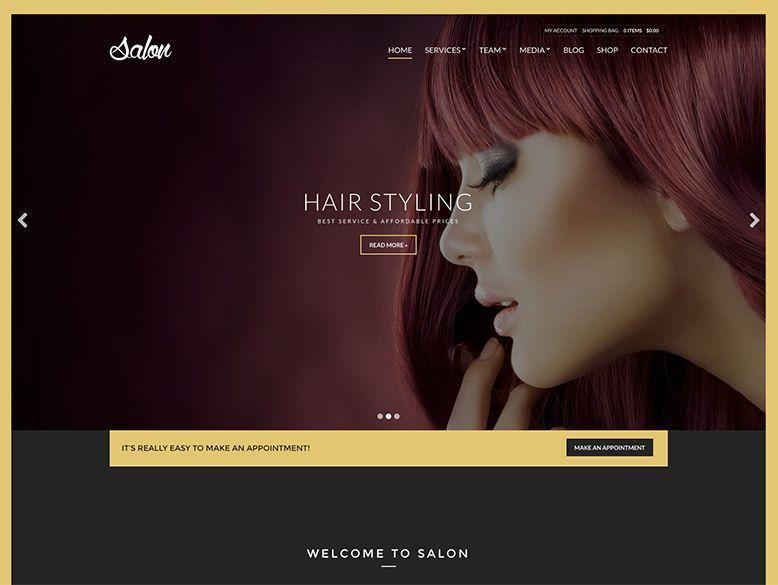Salon - Plantilla WordPress para salones de peluquería y belleza, balnearios