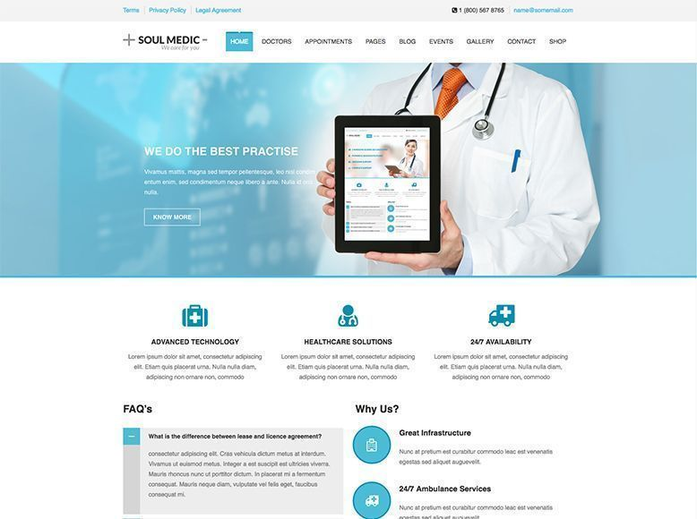 Soul Medic - Plantilla WordPress para centros médicos y de salud