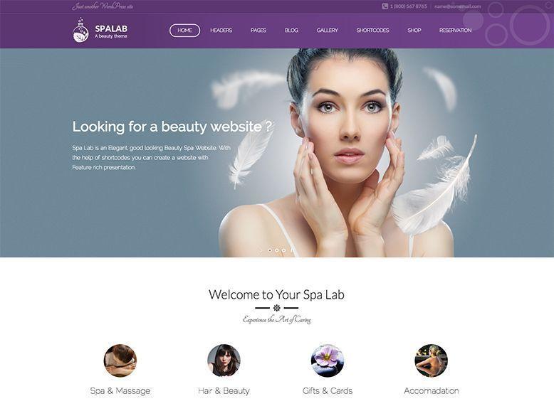 Spalab - Tema WordPress para peluquerías, spas, centros de belleza y estética