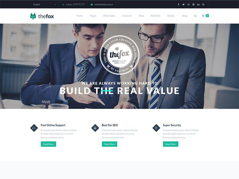 Thefox - Plantilla WordPress para empresas