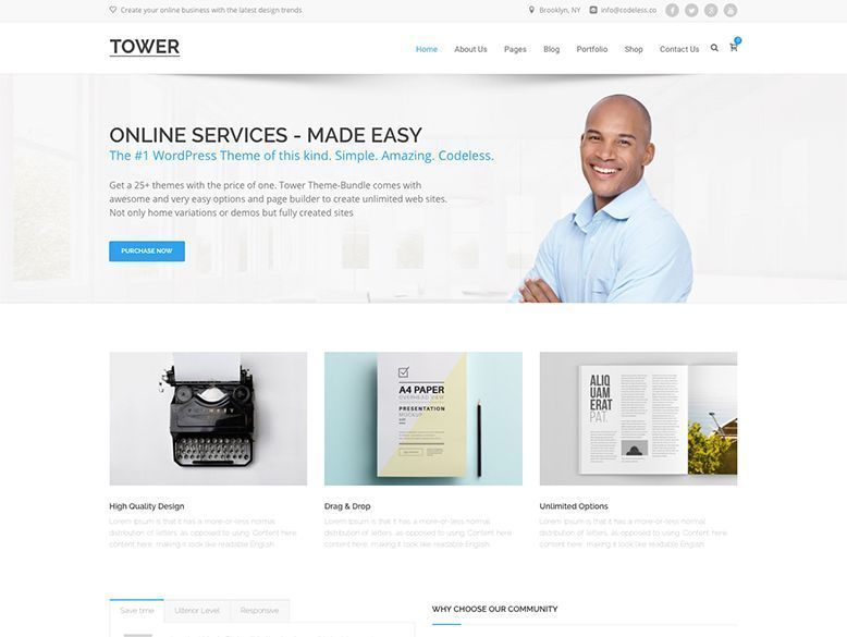 Tower - Plantilla WordPress para agencias y empresas