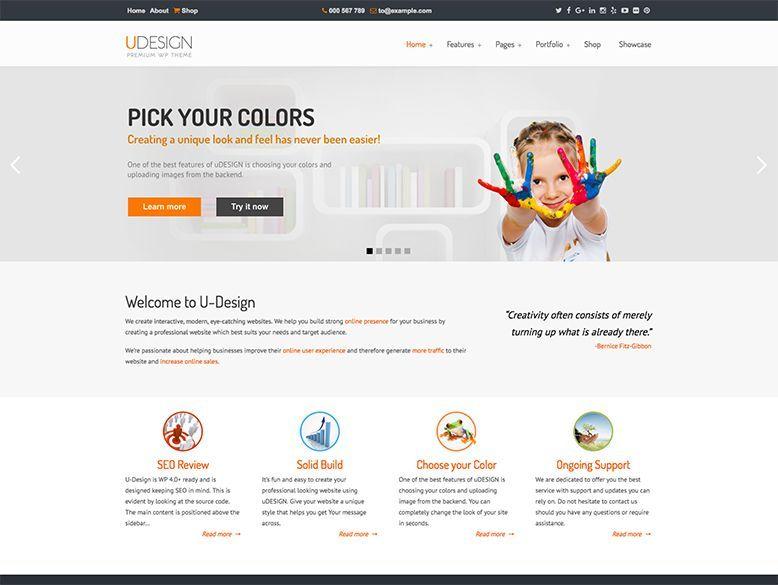 uDesign - Plantilla WordPress para empresas y negocios