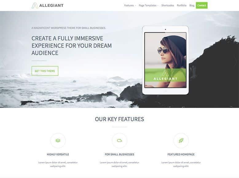 Allegiant - Tema WordPress para agencias y empresas