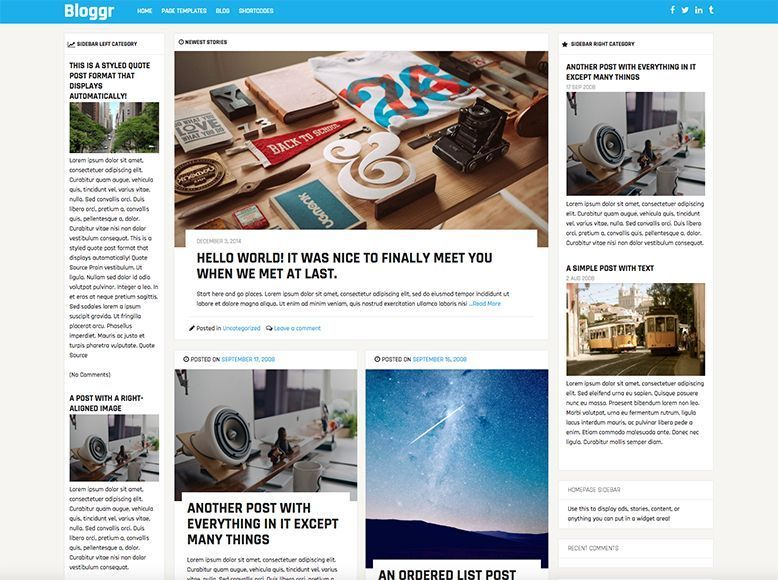 Blogrr - Plantilla WordPress gratis para revistas, blogs y periódicos