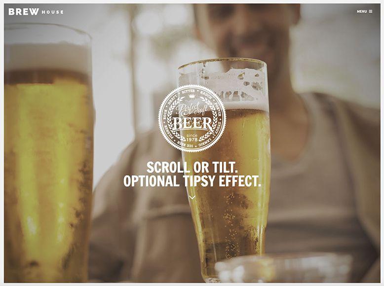 Brew - Plantilla WordPress gratis para bares y restaurantes