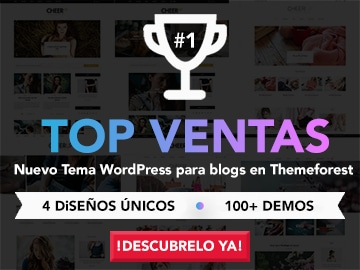 Cheerup - Mejor plantilla WordPress para blogs