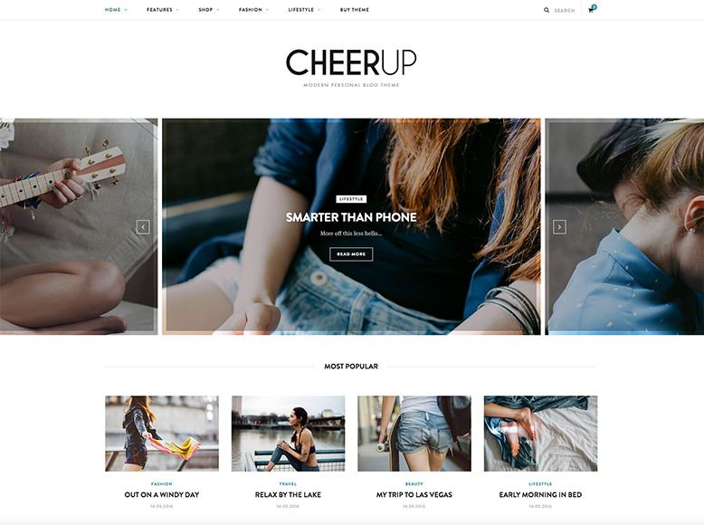 CheerUp - Plantilla de WordPress para blogs personales