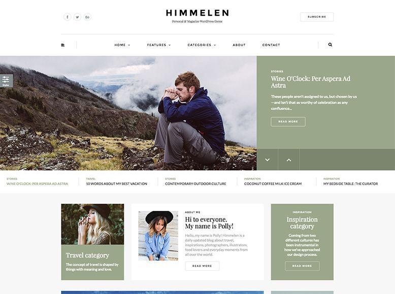 Himmelen - Tema WordPress para blogueros, blogs personales, viajes