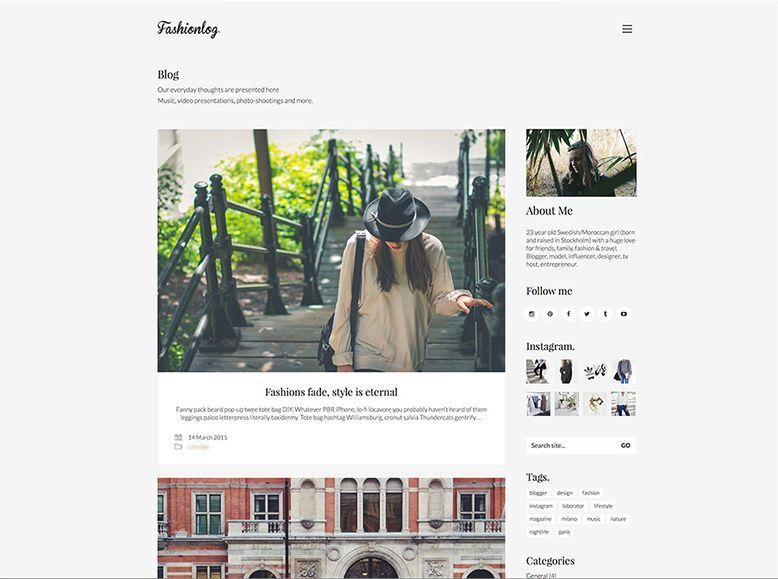 Kalium - Plantilla WordPress para blogueros. fotógrafos y artistas