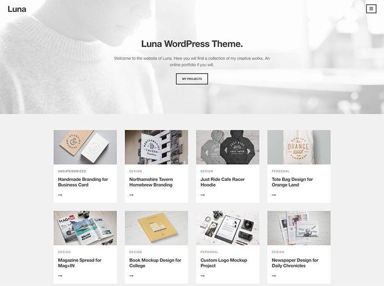 Luna - Tema WordPress gratis para agencias y empresas creativas