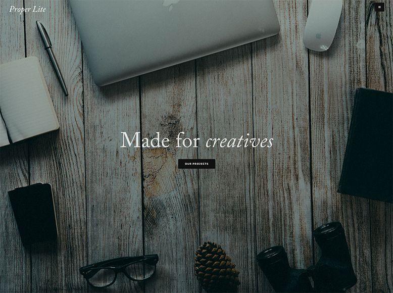 Proper Lite - Plantilla WordPress gratis para blogs y portafolios