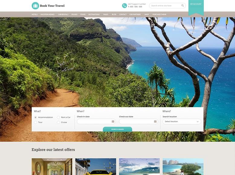 Book Your Travel - Tema WordPress para reserva de viajes y tours