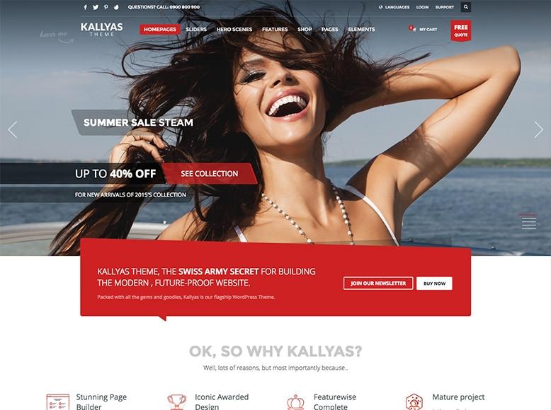 Kallyas - Tema WordPress multipropósito para empresas, agencias y sitios personales