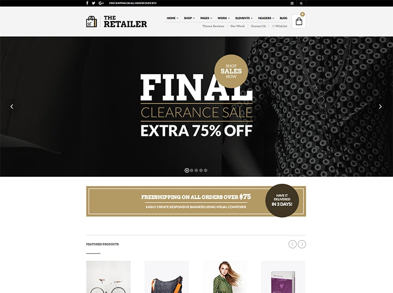 The Retailer - Tema WordPress para tiendas online WooCommerce