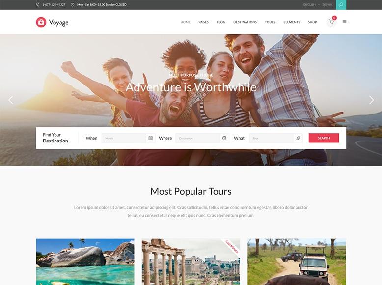Voyage - Tema WordPress para agencias de viajes y tour operadores