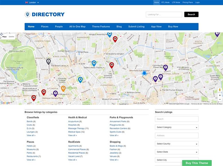 Directory - Plantilla WordPress para directorios y listas de negocios locales o globales