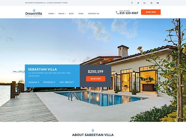 DreamVilla - Plantilla WordPress para agencias inmobiliarias
