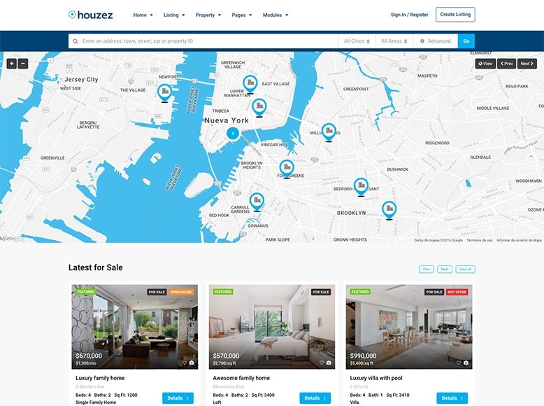 Houzez - Plantilla WordPress para Agencias Inmobiliarias