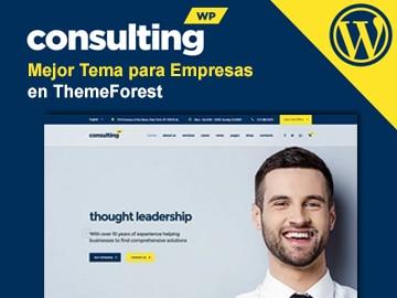 Consulting - El mejor tema WordPress para empresas y consutoras
