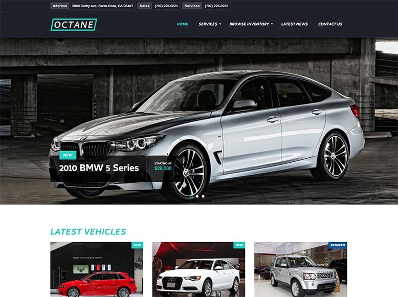 Octane - Plantilla WordPress para concesionarios de coches nuevos y de ocasión