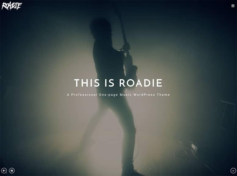Roadie - Plantilla WordPress para bandas de música Pop/Rock, solistas y músicos